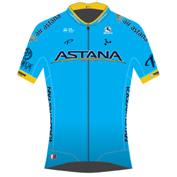 Trikot Astana Pro Team (AST) 2019 (Quelle: UCI)