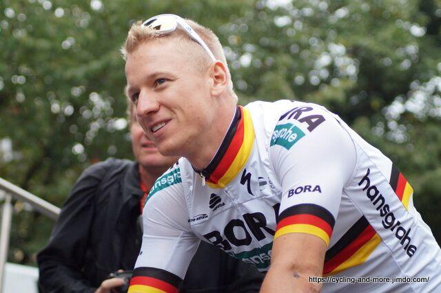 Sieger im Sprintduell mit Marcel Kittel: Pascal Ackermann, hier bei der Deutschland Tour 2018 (Foto: Christine Kroth)