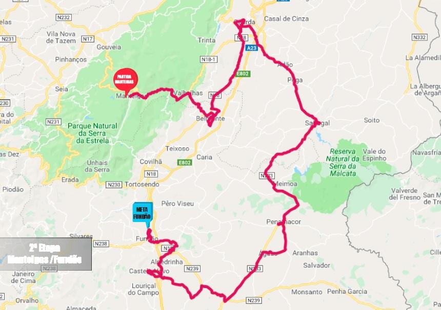 Streckenverlauf GP Beiras e Serra da Estrela 2019 - Etappe 2