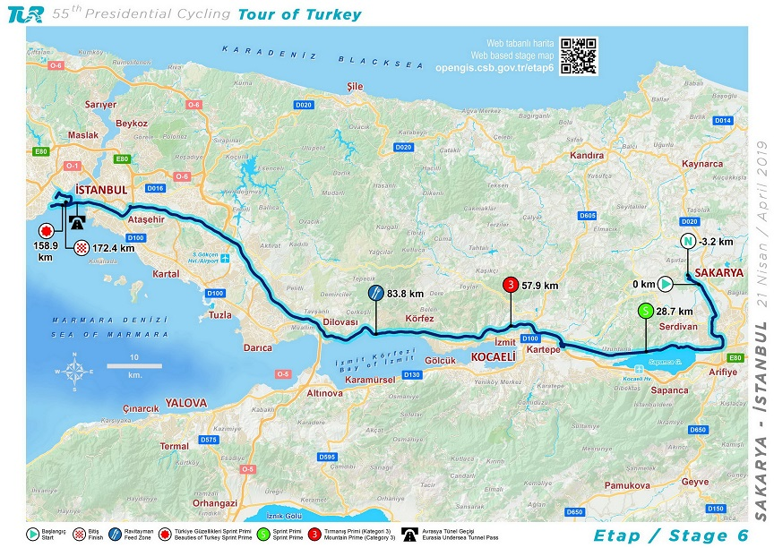Streckenverlauf Presidential Cycling Tour of Turkey 2019 - Etappe 6