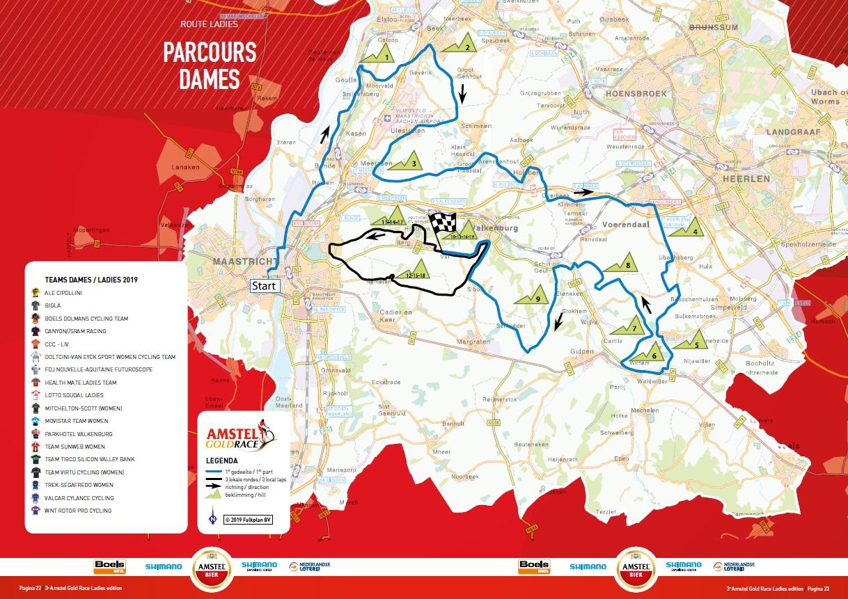 Streckenverlauf Amstel Gold Race Ladies Edition 2019