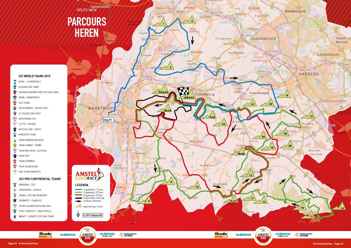 Streckenverlauf Amstel Gold Race 2019