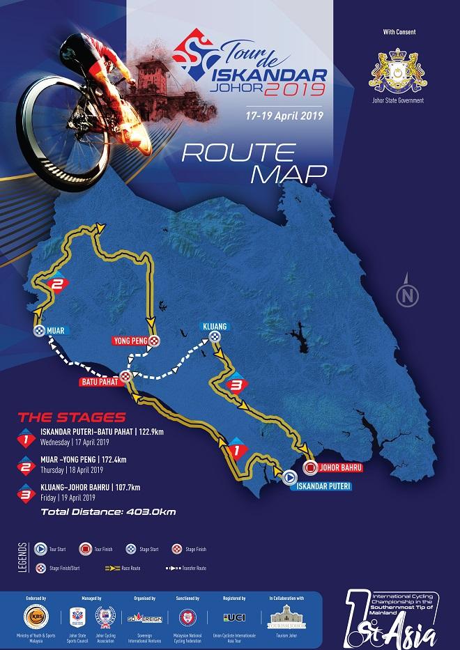 Streckenverlauf Tour de Iskandar Johor 2019