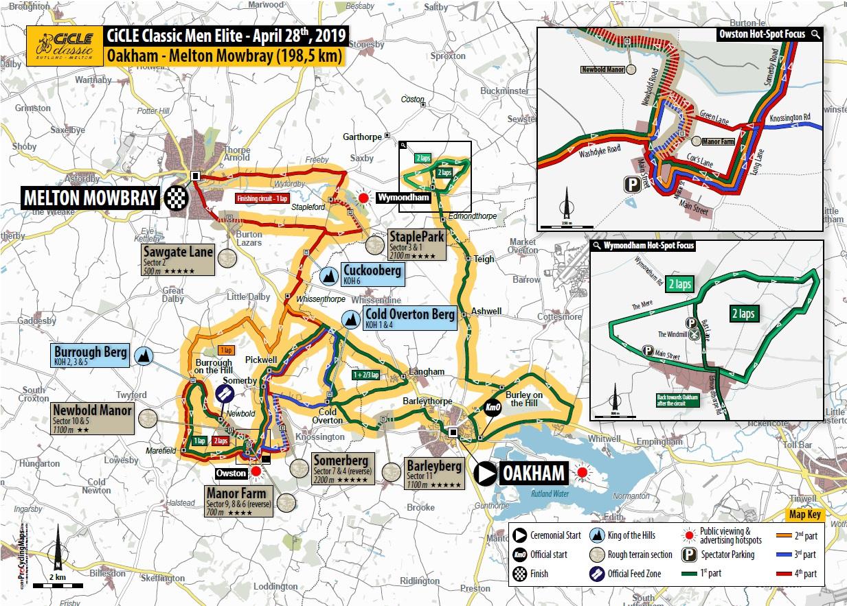 Streckenverlauf Rutland - Melton Cicle Classic 2019