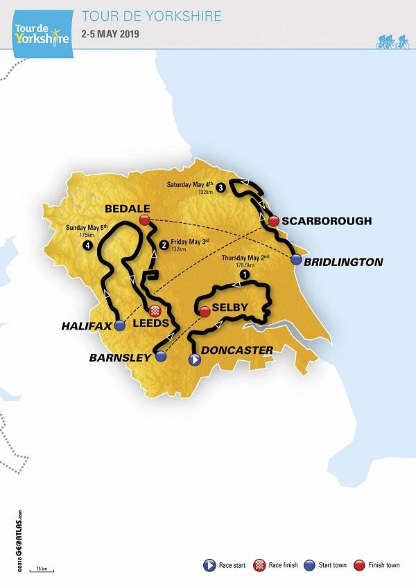 Streckenverlauf Tour de Yorkshire 2019