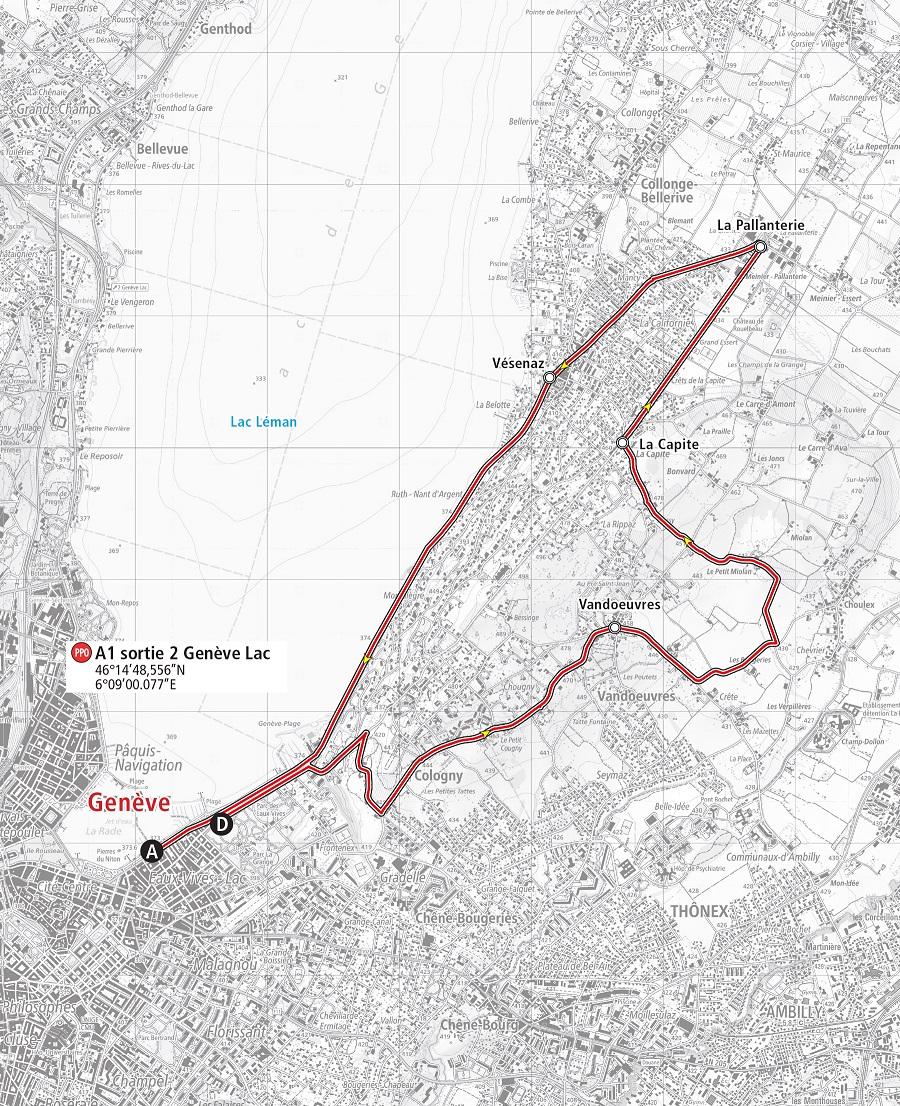 Streckenverlauf Tour de Romandie 2019 - Etappe 5