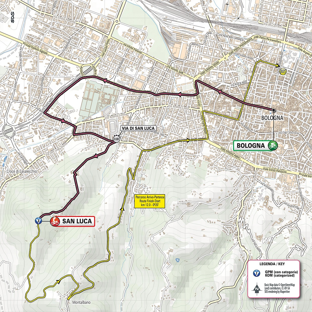 Streckenverlauf Giro d'Italia 2019 - Etappe 1