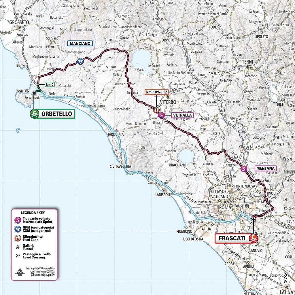 Streckenverlauf Giro d'Italia 2019 - Etappe 4