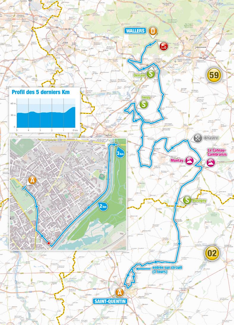 Streckenverlauf 4 Jours de Dunkerque / Grand Prix des Hauts de France 2019 - Etappe 2
