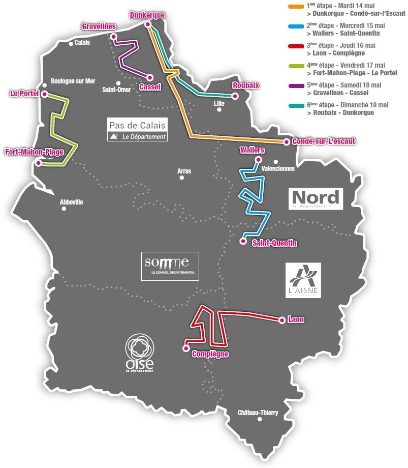 Streckenverlauf 4 Jours de Dunkerque / Grand Prix des Hauts de France 2019