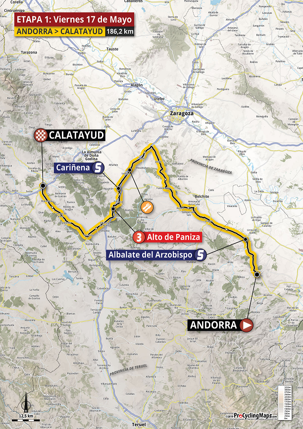 Streckenverlauf Vuelta Aragón 2019 - Etappe 1