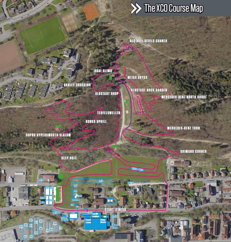 Der Plan der Cross-Country-Strecke beim MTB-Weltcup in Albstadt