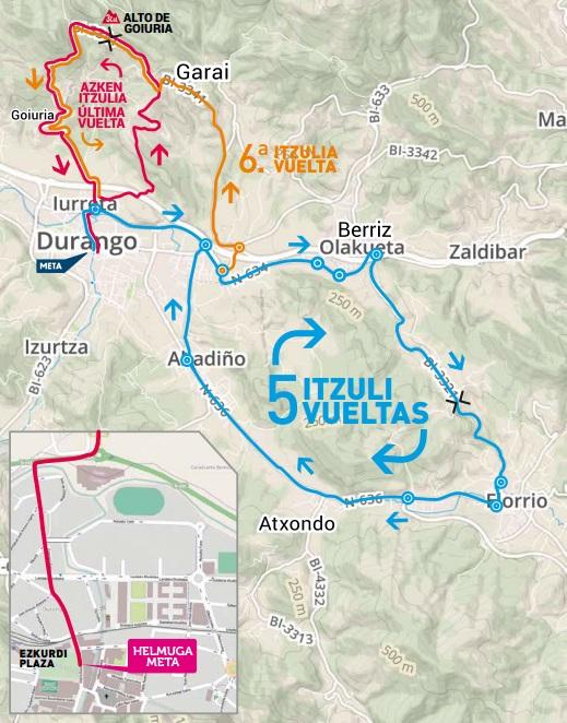 Streckenverlauf Durango-Durango Emakumeen Saria 2019