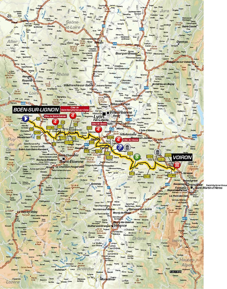 Streckenverlauf Critérium du Dauphiné 2019 - Etappe 5