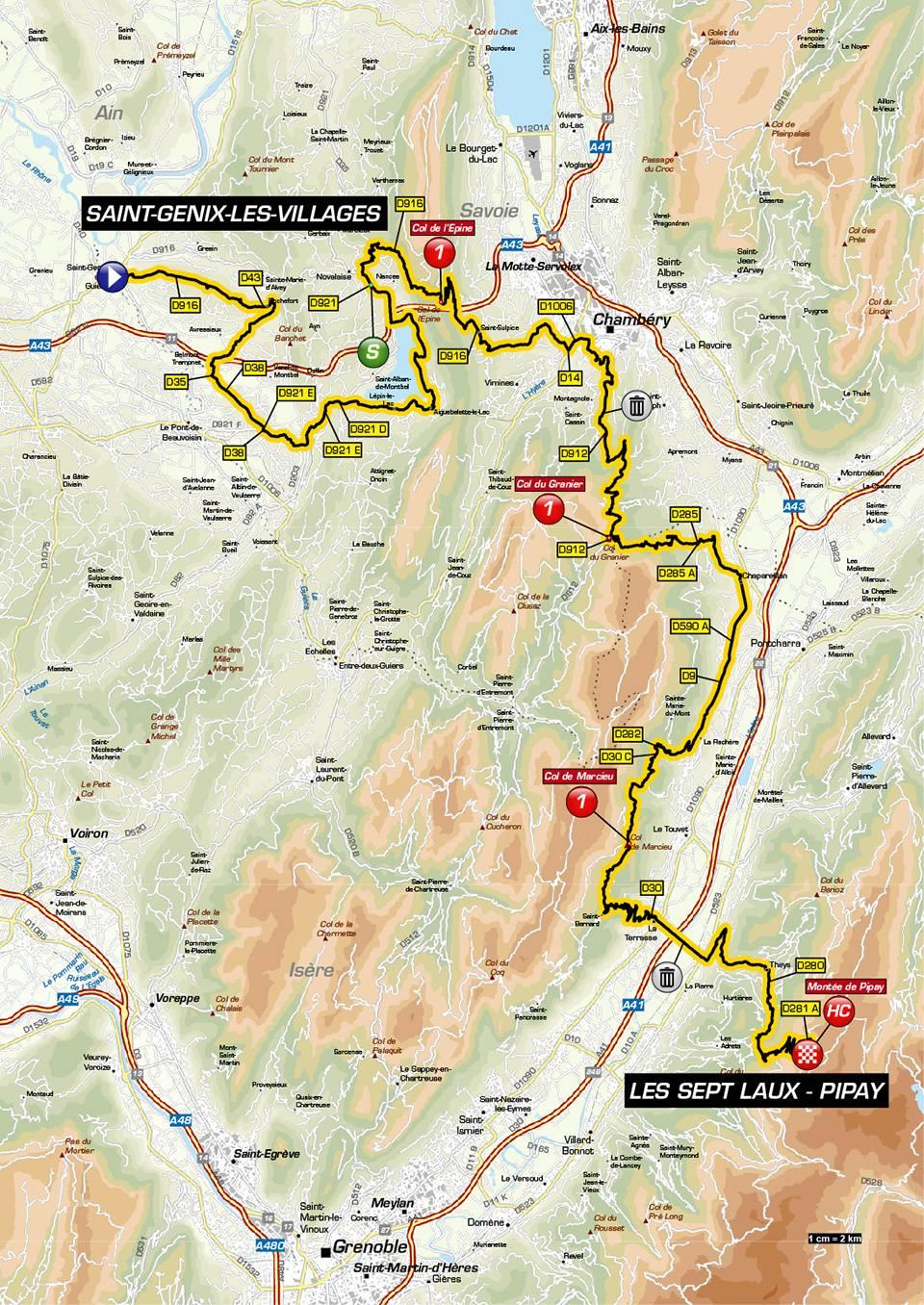 Streckenverlauf Critérium du Dauphiné 2019 - Etappe 7