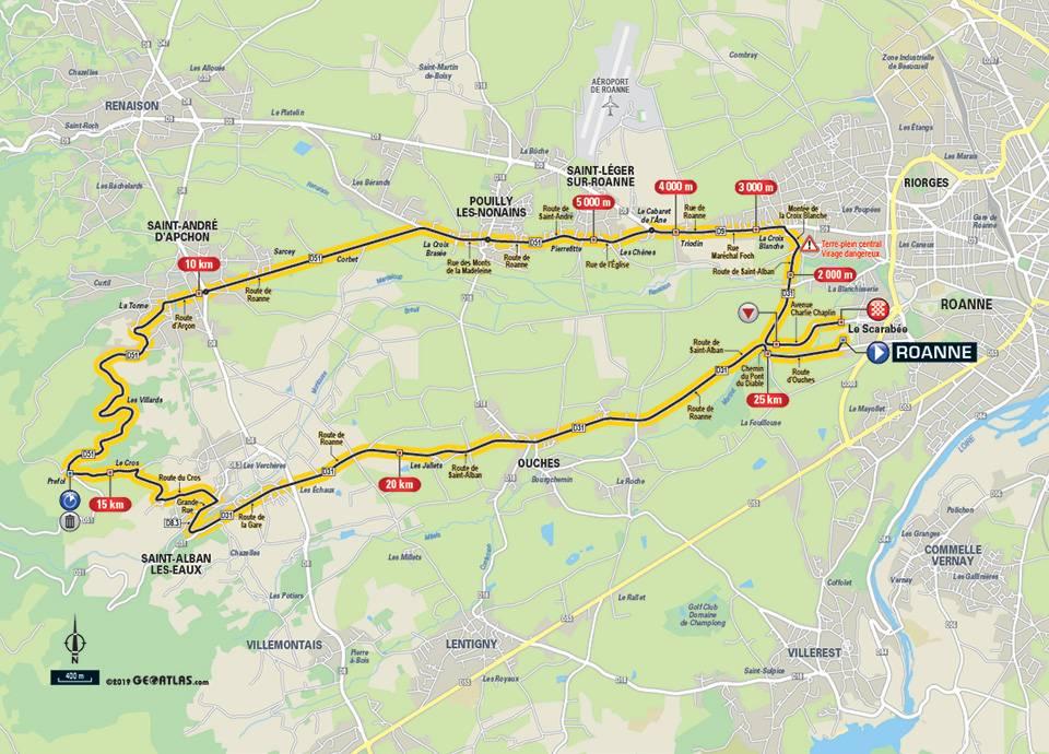 Streckenverlauf Critérium du Dauphiné 2019 - Etappe 4