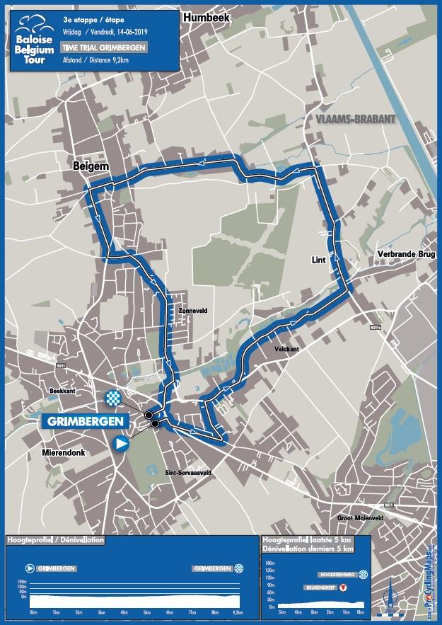 Streckenverlauf Baloise Belgium Tour 2019 - Etappe 3