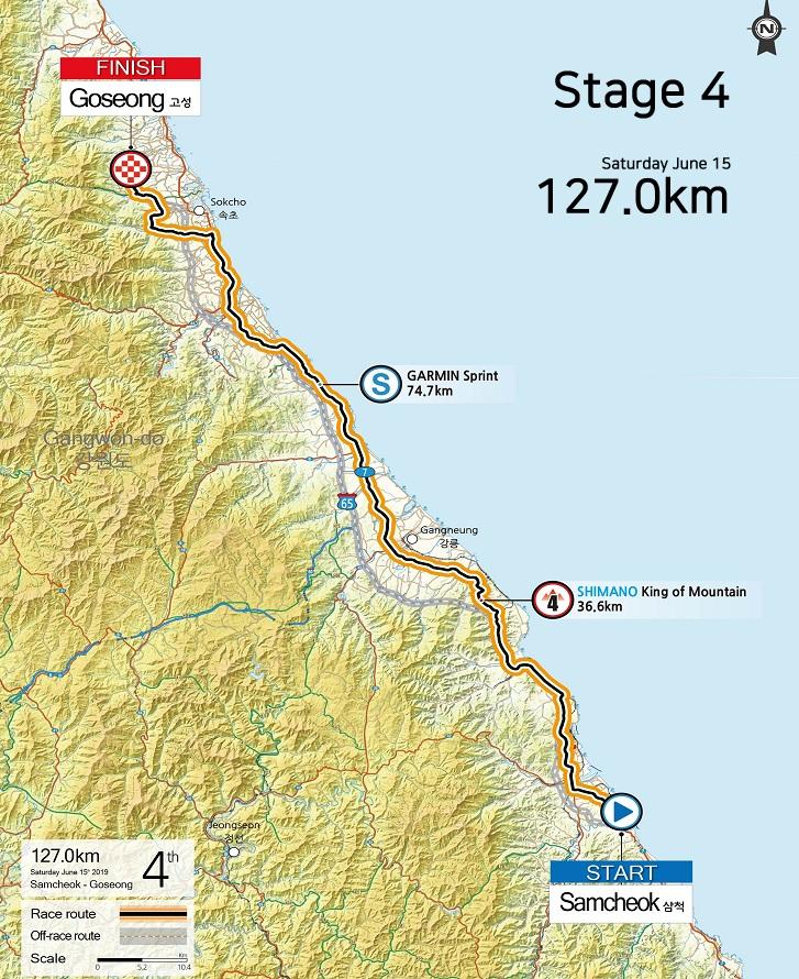 Streckenverlauf Tour de Korea 2019 - Etappe 4