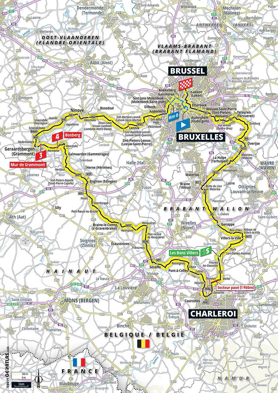 Streckenverlauf Tour de France 2019 - Etappe 1
