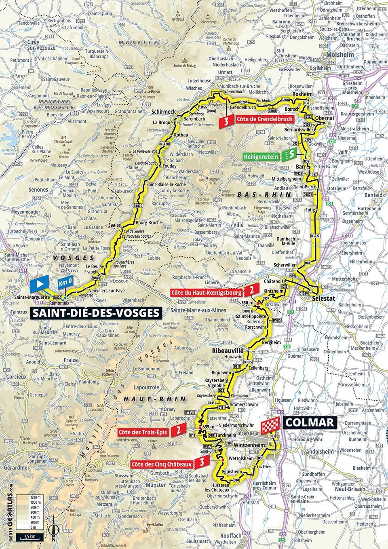 Streckenverlauf Tour de France 2019 - Etappe 5