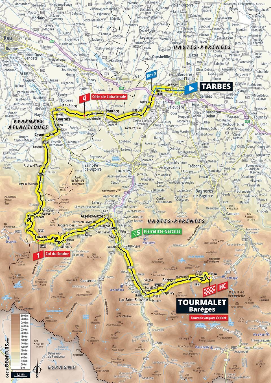 Streckenverlauf Tour De France