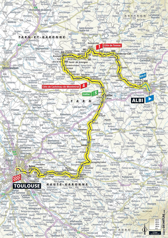 Streckenverlauf Tour de France 2019 - Etappe 11