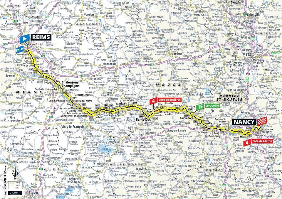 Streckenverlauf Tour de France 2019 - Etappe 4