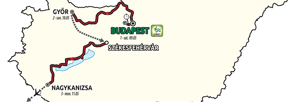 Die ersten drei Etappen des Giro d'Italia 2020 in Ungarn