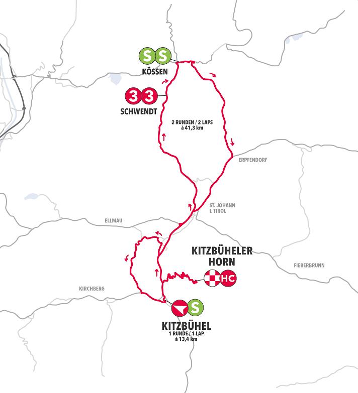 Streckenverlauf Int. Österreich Rundfahrt 2019 - Etappe 6