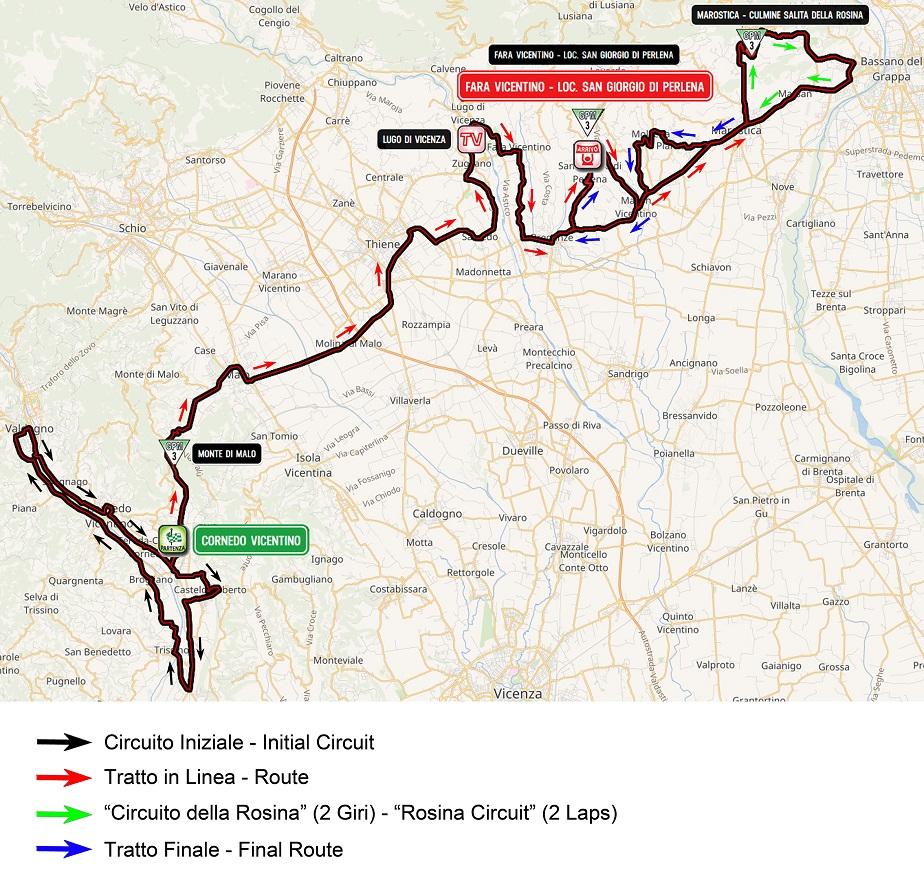 Streckenverlauf Giro d'Italia Internazionale Femminile 2019 - Etappe 7