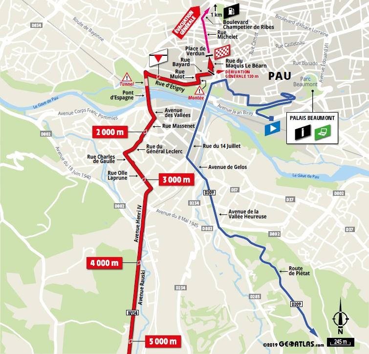 Streckenverlauf Tour de France 2019 - Etappe 13, letzte 5 km