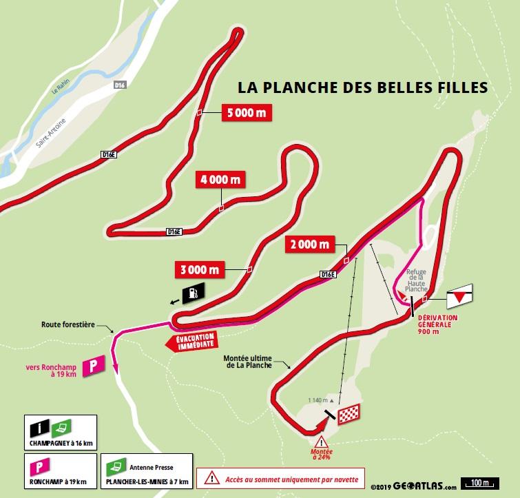 Streckenverlauf Tour de France 2019 - Etappe 6, letzte 5 km
