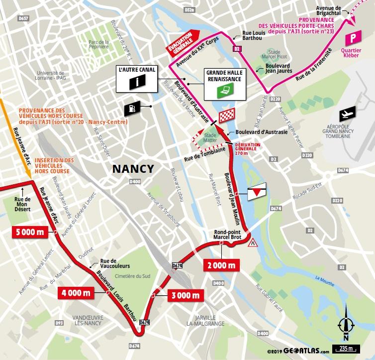 Streckenverlauf Tour de France 2019 - Etappe 4, letzte 5 km