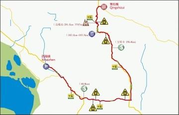Streckenverlauf Tour of Qinghai Lake 2019 - Etappe 8
