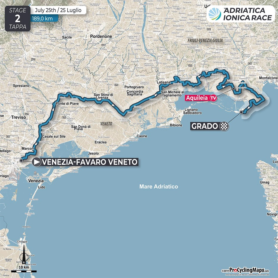 Streckenverlauf Adriatica Ionica Race / Sulle Rotte della Serenissima 2019 - Etappe 2