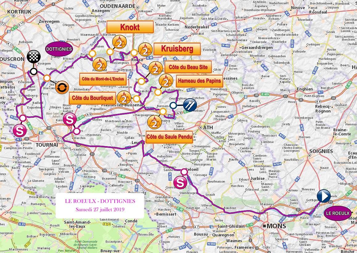 Streckenverlauf VOO-Tour de Wallonie 2019 - Etappe 1