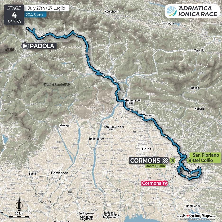 Streckenverlauf Adriatica Ionica Race / Sulle Rotte della Serenissima 2019 - Etappe 4