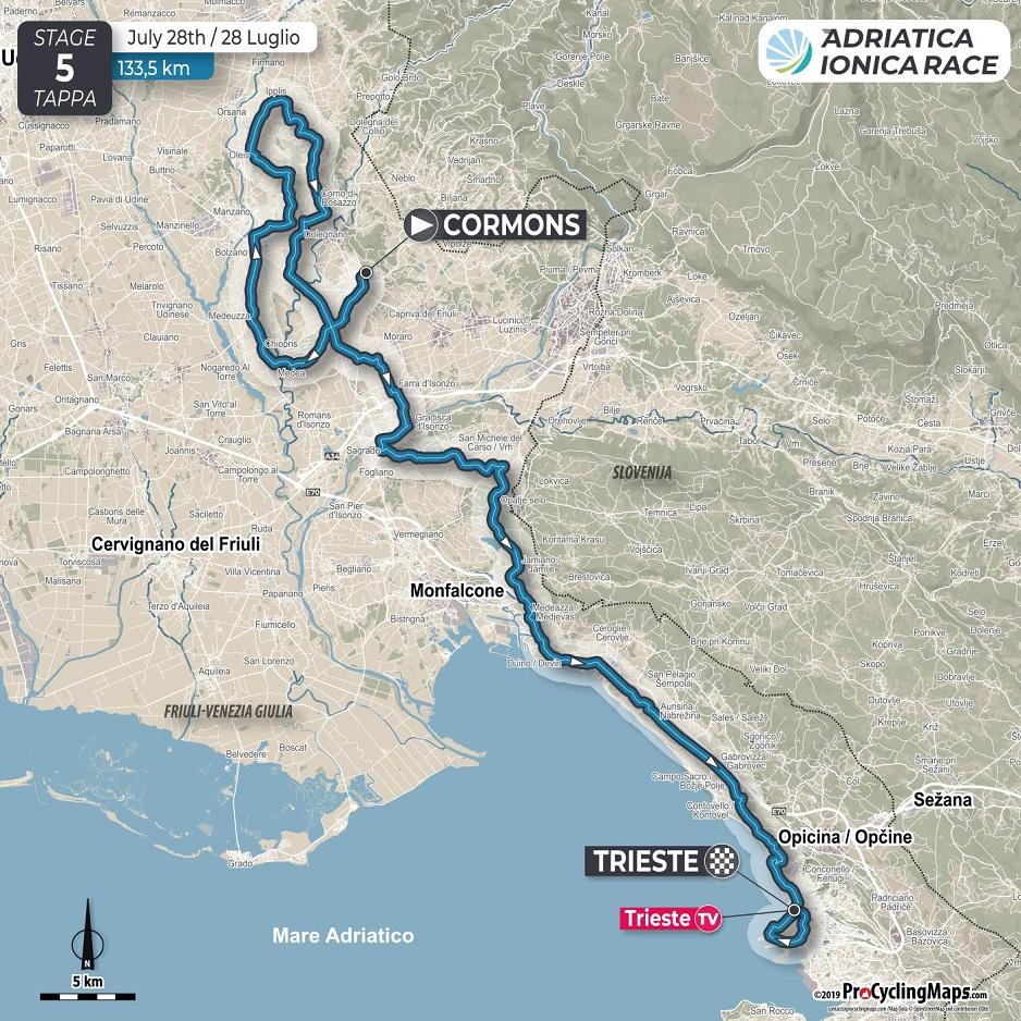 Streckenverlauf Adriatica Ionica Race / Sulle Rotte della Serenissima 2019 - Etappe 5