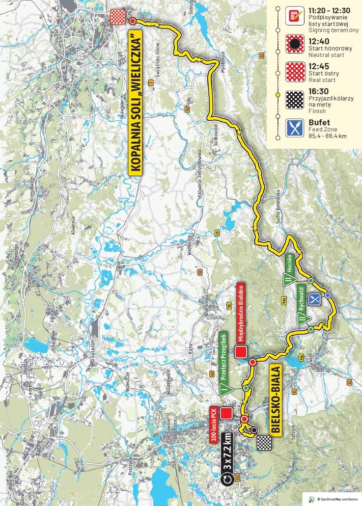 Streckenverlauf Tour de Pologne 2019 - Etappe 5