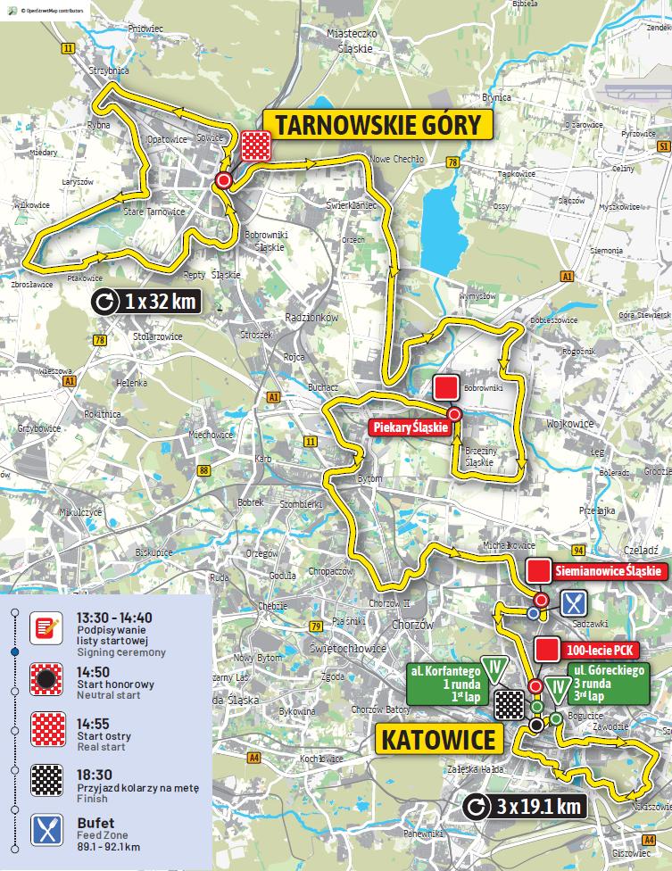 Streckenverlauf Tour de Pologne 2019 - Etappe 2