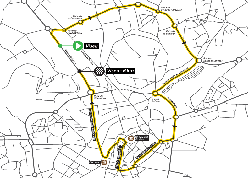Streckenverlauf Volta a Portugal Santander 2019 - Prolog