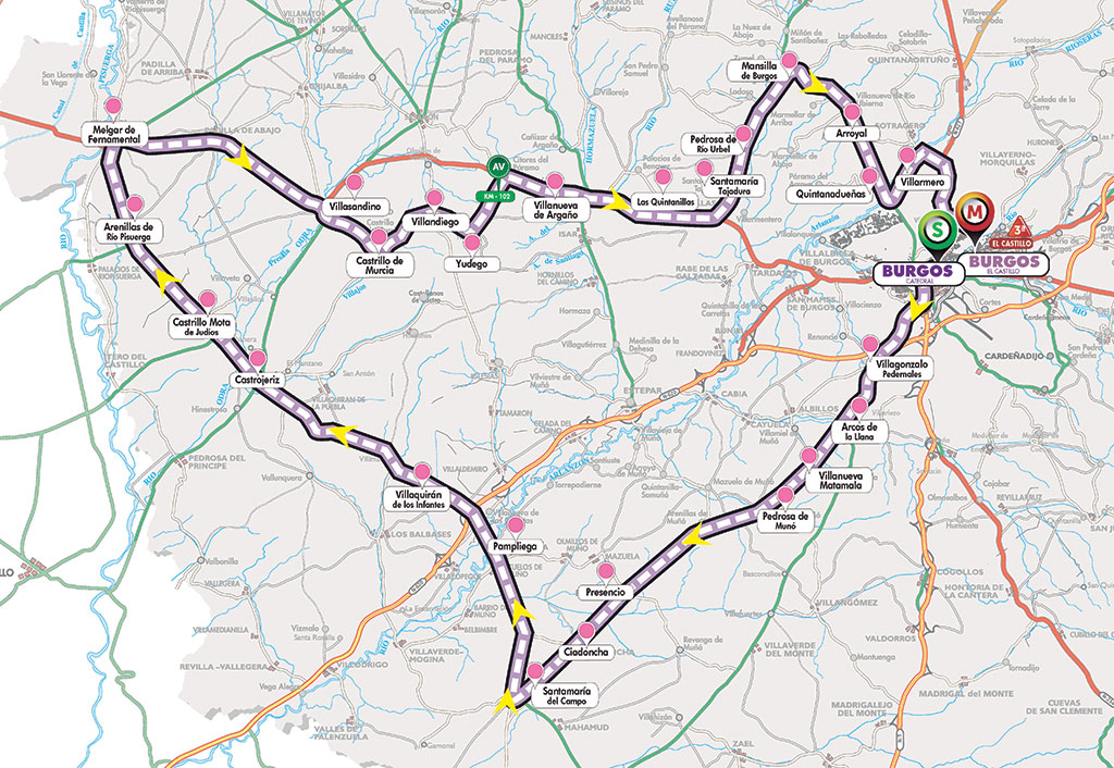 Streckenverlauf Vuelta a Burgos 2019 - Etappe 1