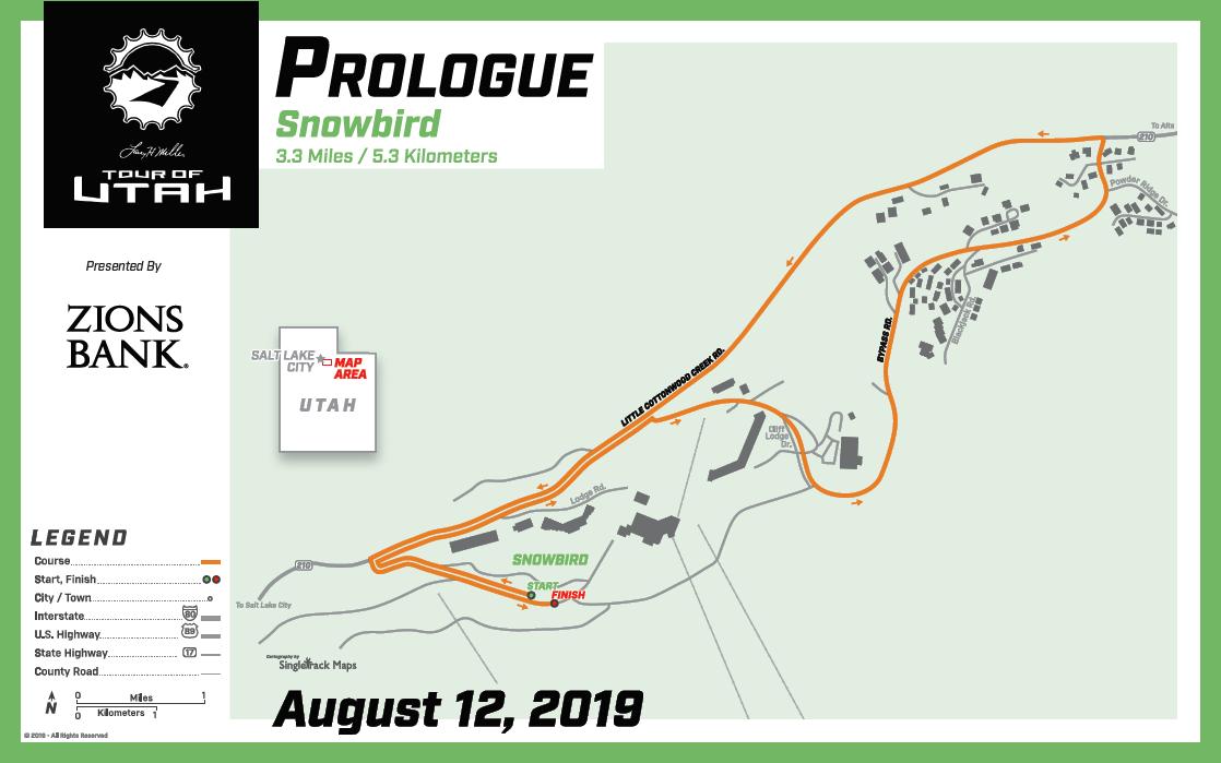 Streckenverlauf The Larry H. Miller Tour of Utah 2019 - Prolog