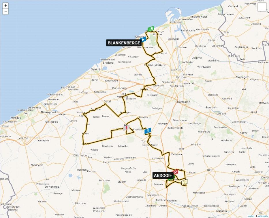 Streckenverlauf BinckBank Tour 2019 - Etappe 2