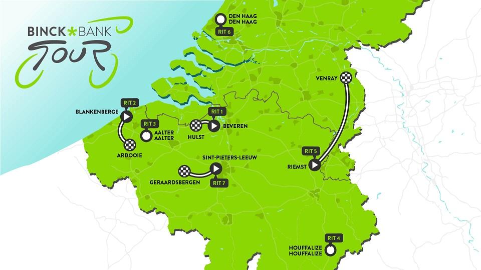 Streckenverlauf BinckBank Tour 2019