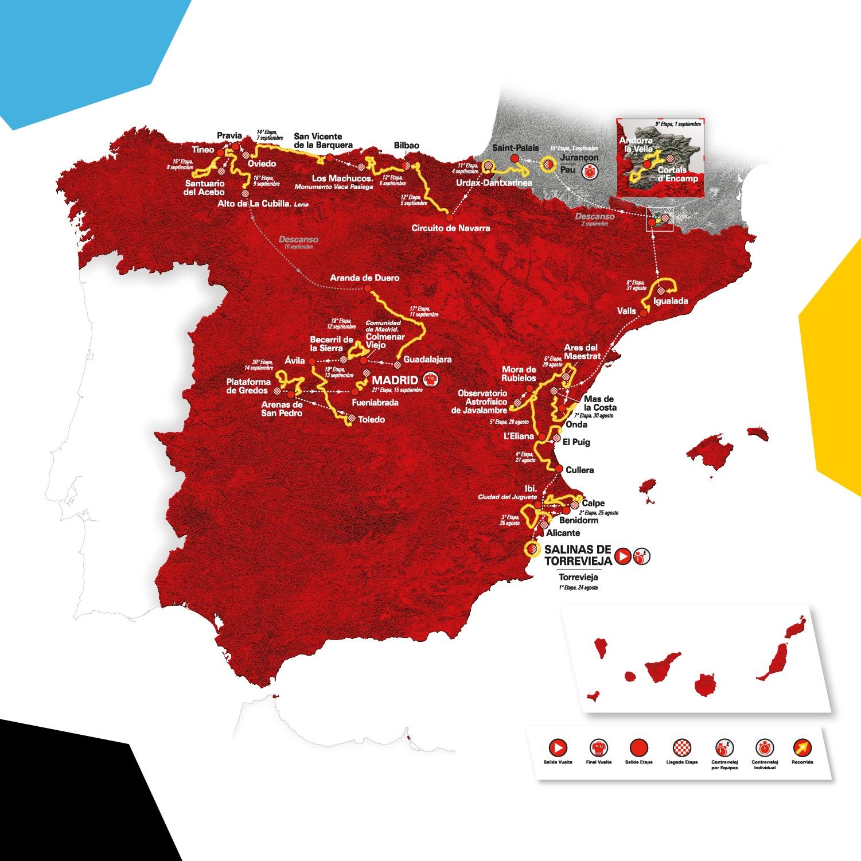 Streckenverlauf Vuelta a España 2019