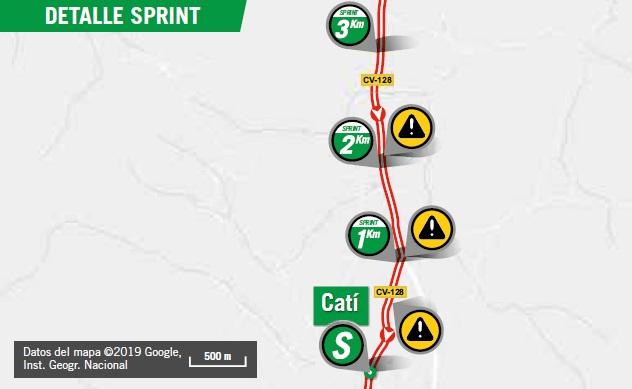 Streckenverlauf Vuelta a España 2019 - Etappe 6, Zwischensprint