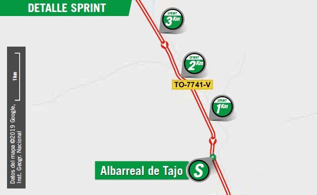 Streckenverlauf Vuelta a España 2019 - Etappe 19, Zwischensprint