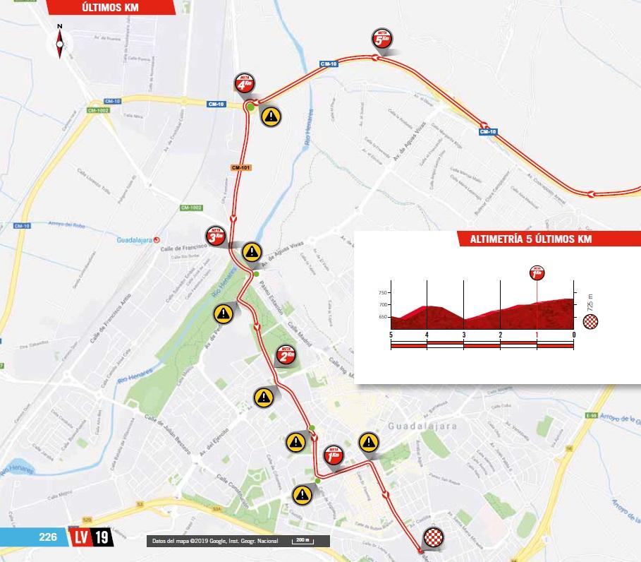 Streckenverlauf Vuelta a España 2019 - Etappe 17, letzte 5 km