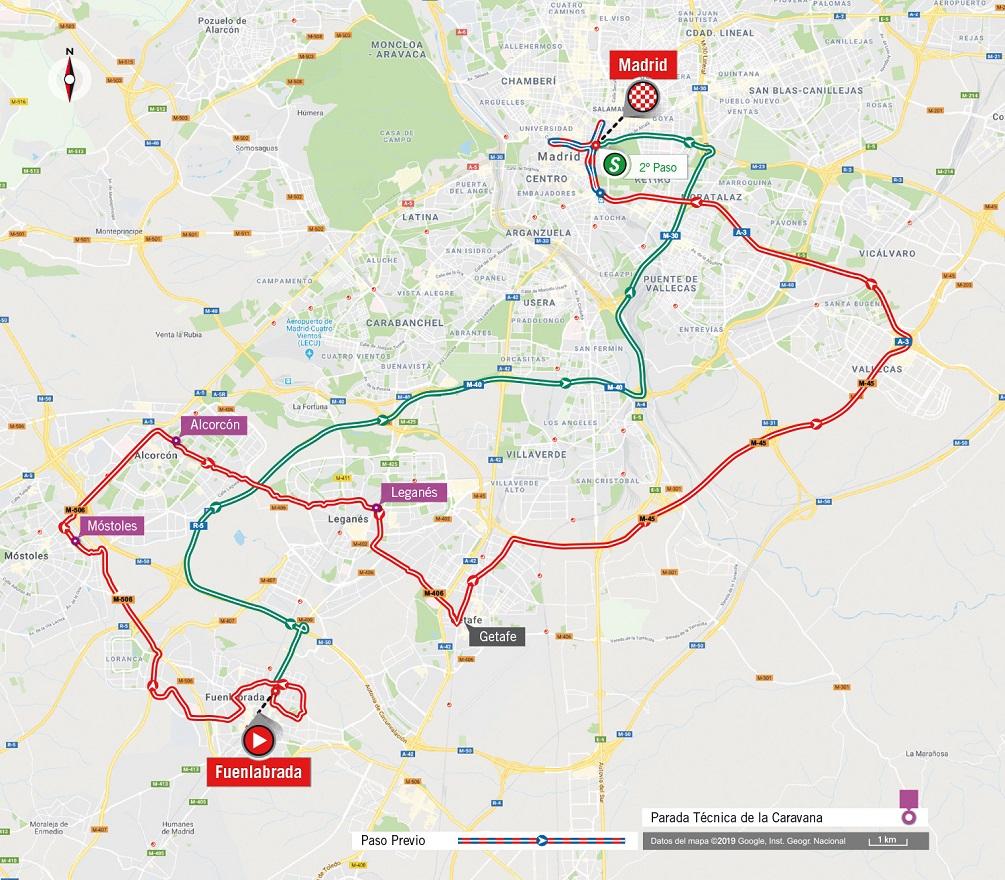 Streckenverlauf Vuelta a España 2019 - Etappe 21